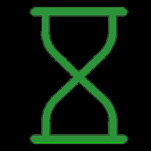 Green hourglass.